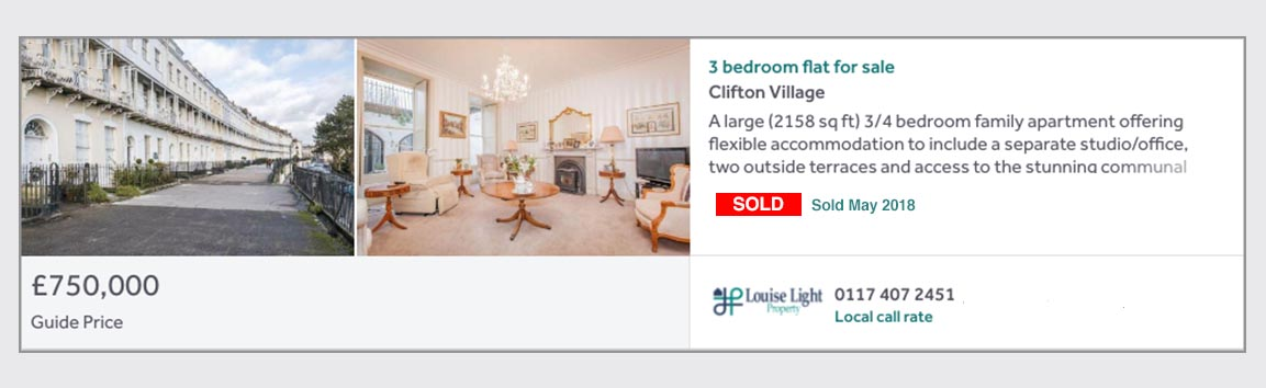 sold property clifton village