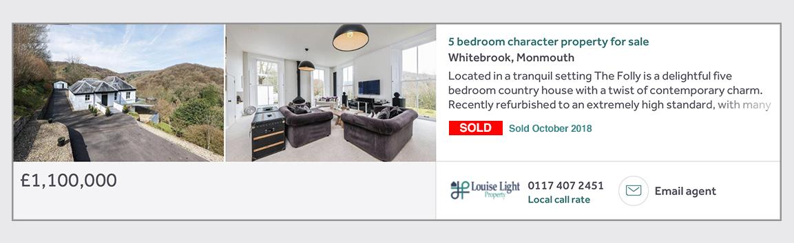 sold whitebrook